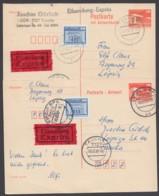 Mi-Nr. P88 F+A, Beide Teile Mit Pass. Zusatzfr. Als Eilboten Mit Ankunft - Cartoline - Usati