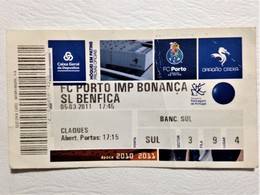 Hockey On Roller Skates Ticket, FC Porto Vs SL Benfica, Porto, March 5, 2011 - Tickets - Entradas