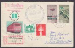 Mi-Nr. U3, Portoger. Bedarf Als R- Brief Mit Zusatzfr. - DDR