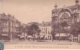 59-LILLE- PLACE VANHOENACKER ET UNION DE LILLE-ANIMÉE - Lille