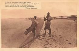 Algerie Texte Pierre Aguetant Où Est Donc Ton Chemin , Indication Du Chemin Dans Les Dunes - Algérie