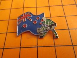 1919 Pin's Pins / Beau Et Rare / Thème SPORTS / RUGBY COUPE DU MONDE 91 DRAPEAU AUSTRALIE OU NOUVELLE-ZELANDE - Rugby