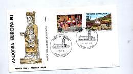 Lettre Fdc 1981 Europa - Spanisch Andorra