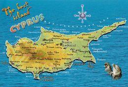 1 Map Of Cyprus * 1 Ansichtskarte Mit Der Landkarte Von Zypern * - Landkaarten