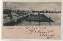CPA EGYPTE : ALEXANDRIE - Arsenal - Précurseur DND - Ed. Carlo Miéli - 1903 - - Alexandrie