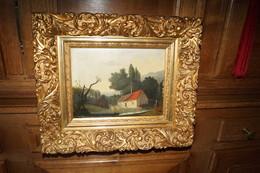 Superbe Ancienne Huile Sur Toile  Signature E.Vannerom ? Superbement Encadrée,Antique Originale,42 Cm./ 36 Cm. - Olieverf