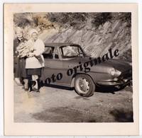 Photo Originale - Autos Voitures Automobiles Cars - RENAULT Floride Caravelle - Femmes - Automobiles