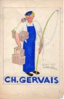 Dessin Maquette Original Publicité  Demi Sel Pour Ch.Gervais. - Disegni