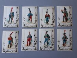 8 Cartes D'uniformes De Hussards 1er Et 2 ème Empire  & - Documents