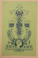 Ex-libris Illustré Fin XIXème - CAECILIE WOLBRANDT - Ex-libris