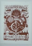 Ex-libris Illustré Fin XIXème - CAECILIAE WOLBRANDT - Ex-libris