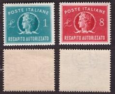 Repubblica, Serie Recapito Autorizzato Del 1947 Nuova ** -BP84 - 1946-60: Neufs