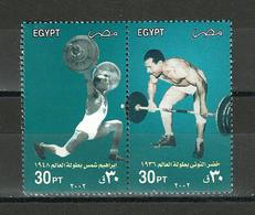 Egypt - 2002 - ( Weight Lifters - Ibrahim Shams, 1948 & Khidre El Touney, 1936 ) - MNH (**) - Pesistica