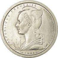 Monnaie, Madagascar, 2 Francs, 1948, Paris, SUP+, Aluminium, KM:4 - Madagascar