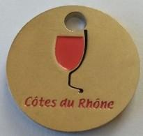 Jeton De Caddie - Côtes Du Rhône - En Métal - Neuf - - Jetons De Caddies