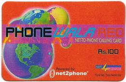 India - Net4India - Phone Wala Red, GSM Refill 100₹, Used - India