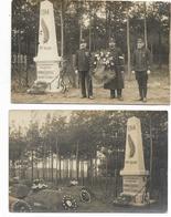 Lot De 2 CPA - CAMP DE KÖNISGBRÜCK- Monument érigé Par Les Prisonniers De Guerre Français Morts à Leurs Frères D'armes - Guerre 1914-18