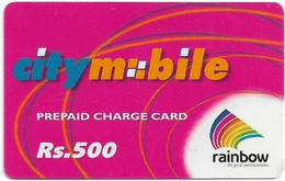India - Rainbow - City Mobile, Abstract Design, GSM Refill 500₹, Used - India