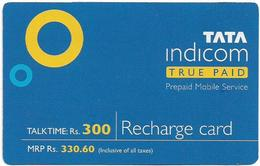 India - Tata Indicom - Tata Indicom True Paid, GSM Refill 330.60₹, Exp.01.2005, Used - India