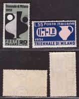 Repubblica, Serie Triennale Di Milano Del 1951 Nuova ** Nh Mint -BB45 - 1946-60: Neufs