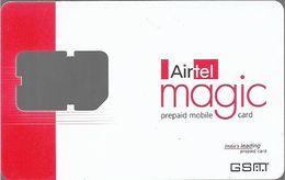 India - Airtel - Magic GSM SIM Card, Used No Chip - India