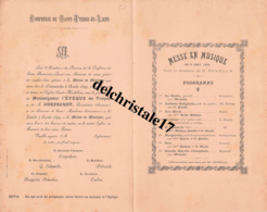 PROGRAMME MESSE EN MUSIQUE DU 06 AOÛT 1899 - Unclassified