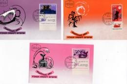 ISRAEL, 1963, Maxi-Card(s), New Year - Festival, SG261-263, F5073 - Tarjetas – Máxima