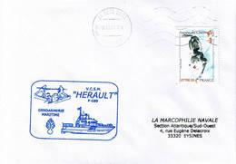 Gendarmerie Maritime - P609 - VCSM Hérault - Sete - Scheepspost