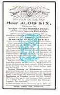 DP Aloïs Six ° Langemark 1867 † Poperinge 1946 X E. Hoorelbeke Xx L. Delboo - Andachtsbilder