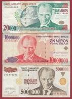 Turquie 3 Billets  Dans L 'état - Turkey
