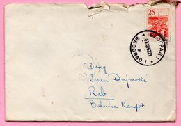 Letter - Postmark Beograd, 3.12.1962. / Rab, 4.12.1962., Yugoslavia - Unclassified
