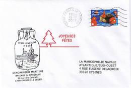Gendarmerie Maritime - P619 - VCSM Huveaune - Marseille - Scheepspost