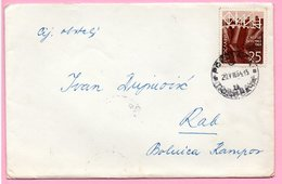 Letter - Postmark Popovača, 20.8.1964. / Rab, 21.8.1964., Yugoslavia - Unclassified