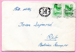 Letter - Postmark Osijek, 1.5.1963. / Rab, 2.5.1963., Yugoslavia - Unclassified