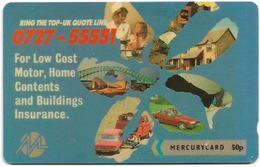 UK (Mercury) - Top UK Insurance - 20MERA - MER173 - 4.180ex, Used - Reino Unido