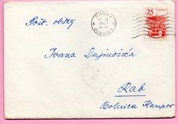 Letter - Postmark Osijek, 20.3.1963. / Rab, 22.3.1963., Yugoslavia - Unclassified