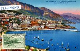 CPA - MONACO - LE PORT ET LA CONDAMINE - VUE SUR MONTE-CARLO (ETAT PARFAIT) - Port