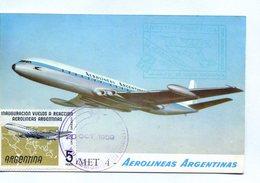 POSTAL. POSTCARD. AVION. PLANE. AIRPLANE. AEROLINEAS ARGENTINAS. - NTVG. - 1946-....: Era Moderna