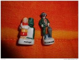 2 FEVE : 1 Feve   ALLEMAGNE + PORTUGAL - Pays