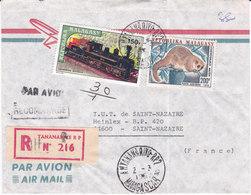 MADAGASCAR, ANTANANARIVO, Lettre Recommandée De 1987, ( NDK/005) - Madagascar (1960-...)