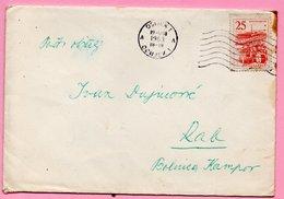 Letter - Postmark Osijek, 19.8.1963. / Rab, 20.8.1963., Yugoslavia - Unclassified