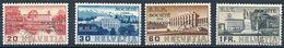 """Schweiz Suisse 1938: Dienst III """"SOCIETÉ DES NATIONS"""" Service (SdN) Zu+Mi 57-60 Surcharge Linéaire (Zu CHF 24.00) - Service"""