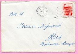 Letter - Postmark Osijek, 8.3.1963. / Rab, 9.3.1963., Yugoslavia - Unclassified