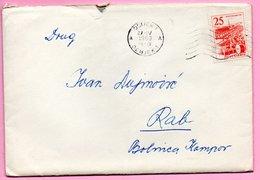 Letter - Postmark Osijek, 27.4.1963. / Rab, 28.4.1963., Yugoslavia - Unclassified