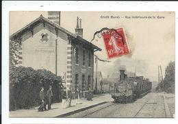 Croth Sorel , Vue Interieure De La Gare,train ,locomotive à Vapeur - Autres Communes