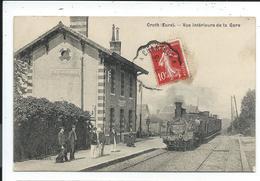 Croth Sorel , Vue Interieure De La Gare,train ,locomotive à Vapeur - Francia