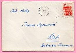 Letter - Postmark Osijek, 16.3.1963. / Rab, 18.3.1963., Yugoslavia - Unclassified