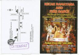 BALI. Kecak Ramayana Monkey Chant.(Balinese Hindu Dance And Music Drama), Entry Ticket, 2 Pictures - Concerttickets