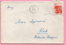 Letter - Postmark Osijek, 12.2.1963. / Rab, 13.2.1963., Yugoslavia - Unclassified