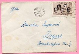 Letter - Postmark Osijek, 19.2.1962. / Zagreb, 20.2.1962., Yugoslavia - Unclassified